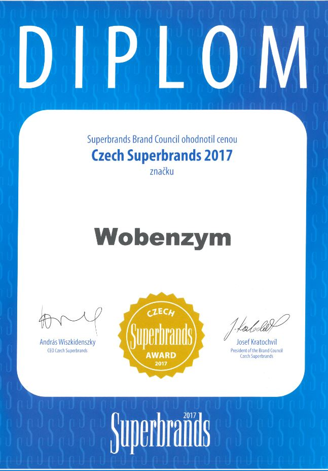 Diplom Wobenzym Czech Superbrands